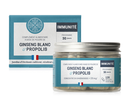 ginseng blanc et propolis gélules